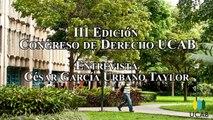César García Urbano Taylor: Entrevista antes de la ponencia en la III Edición del Congreso de Derecho