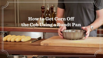 How to Get Corn Off the Cob Using a Bundt Pan