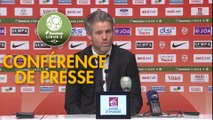 Conférence de presse AS Nancy Lorraine - FC Lorient (0-2) : Patrick GABRIEL (ASNL) - Mickaël LANDREAU (FCL) - 2017/2018