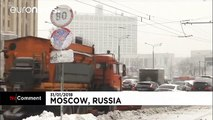 Heavy snowfall and blizzards hit Moscow
