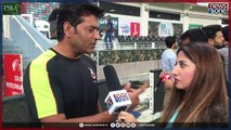 Aaqib Javed talking exclusive with Newsone over Lahore Qalandars performance in #PSL3