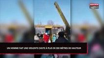 Russie : Un homme chute à dix mètres de hauteur lors d'un concours d'escalade (Vidéo)