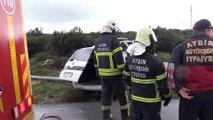 Hafif ticari araç elektrik direğine çarptı: 1 ölü - AYDIN