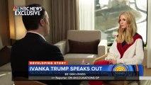 """Interrogée à la télévision américaine, Ivanka Trump défend son père Donald Trump sur ses rapports ambiguës avec les femmes : """"Je crois mon père, je connais mon père"""""""