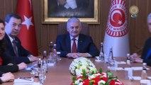 Başbakan Yıldırım,  Azerbaycan ve Gürcistan Parlamentoları Dışişleri Komisyon üyelerini kabul etti