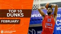 Turkish Airlines EuroLeague, Top 10 Dunks, February