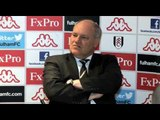 Martin Jol after Fulham v Arsenal - 20.4.2013 - Edit