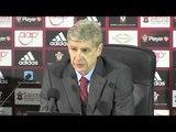 Arsene Wenger after Southampton v Arsenal - 28 1 2014