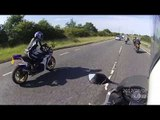 Unmarked police motorcycle chases five bikers at 150mph