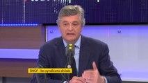 """Réforme de la #SNCF : """"Quand on a 47 milliards d'euros de dettes, on a une entreprise publique totalement exsangue. De toute façon, il y aura la concurrence, il faut s'y préparer"""", estime Nicolas Forissier, député LR de l'Indre #TEP"""