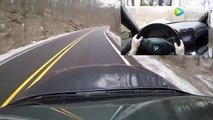 感受下手动挡的宝马M5提速有多快!