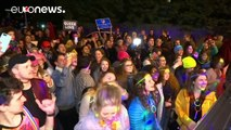 LGBT activists hold 'Queer Dance Party' outside Mike Pence's house