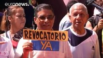 Venezuelan protesters demand a date for a recall referendum to oust President Maduro