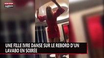 Une fille ivre danse sur un lavabo en soirée (vidéo)