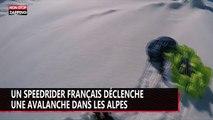 Un speedrider français déclenche une avalanche dans les Alpes (vidéo)