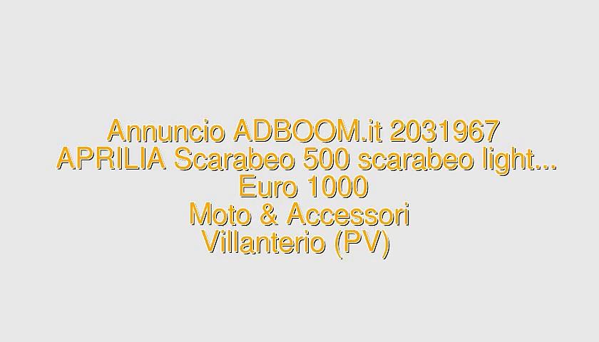 APRILIA Scarabeo 500 scarabeo light…