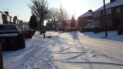 Snow falling Southall UK 2018 PART 4