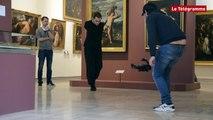 Quimper. Tournage au Musée des Beaux-Arts