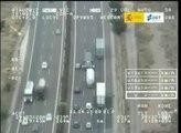 VÍDEO: Pegasus lo ve todo, 3 camiones adelantándose en paralelo