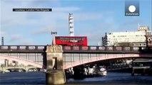 "Bus ""explosion"" on Lambeth bridge causes panic, London"