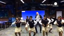 Dancing maths teacher shows off his moves in the classroom