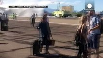 Boeing 777 catches fire on runway with 172 passengers inside, Las Vegas runway