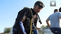 Wrecks turn up diving for archeology in the Danube
