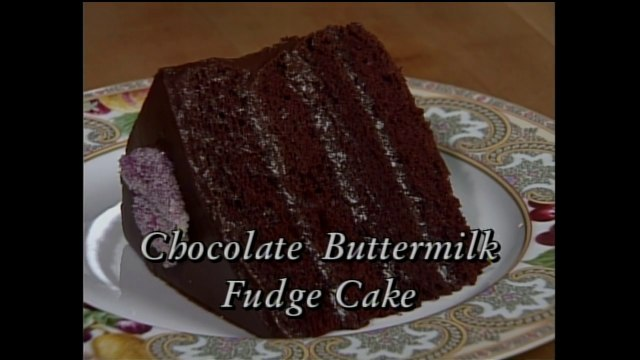Chocolate Buttermilk Fudge Cake with Jim Dodge (In Julia's Kitchen with Master Chefs)