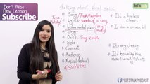 Speaking about 'Music' (Phrases - Liking & Disliking Music) Free English lesson by Michelle