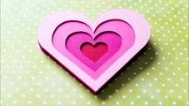 How to Make - 3D Greeting Card Valentines Day Heart - Step by Step DIY   Kartka Walentynkowa