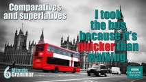 GRAMMAR: How to use comparatives and superlatives
