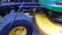 How to Install drive belt on John Deere 265 mower - video dailymotion