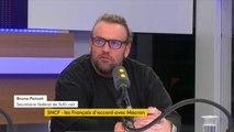 """SNCF : """"Depuis lundi, mes collègues sont victimes d'insultes, de répliques violentes. Le Premier ministre n'a pas mesuré à quel point en stigmatisant ainsi le statut des cheminots, il stigmatisait les cheminots tout court"""", juge Bruno Poncet #TEP"""