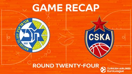 EuroLeague 2017-18 Highlights Regular Season Round 24 video: Maccabi 73-93 CSKA