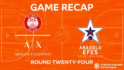 EuroLeague 2017-18 Highlights Regular Season Round 24 video: AX Milan 77-64 Efes