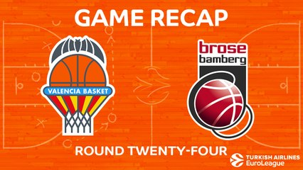 EuroLeague 2017-18 Highlights Regular Season Round 24 video: Valencia 86-70 Bamberg