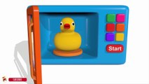 Colors for Children to Learn with Microwave and Blender Toy Appliance - Learn Colors with Vehicles