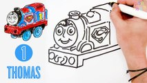 How to Draw Thomas the Train as Superman ♦ Thomas and Friends Minis - Drawing and Coloring Lesson