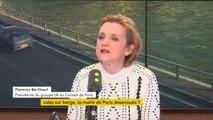 """Voies sur berge à Paris : """"Il y a une décision de justice. La maire ne respecte pas cette décision de justice. Elle s'estime au-dessus du droit"""" estime Florence Berthout, présidente du groupe LR au Conseil de Paris"""