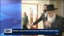 i24NEWS DESK | Israeli coalition rattled by proposed draft bill | Friday, March 2nd 2018