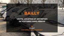 Bailly, vente, location et entretien de voitures sans permis à Ermont.