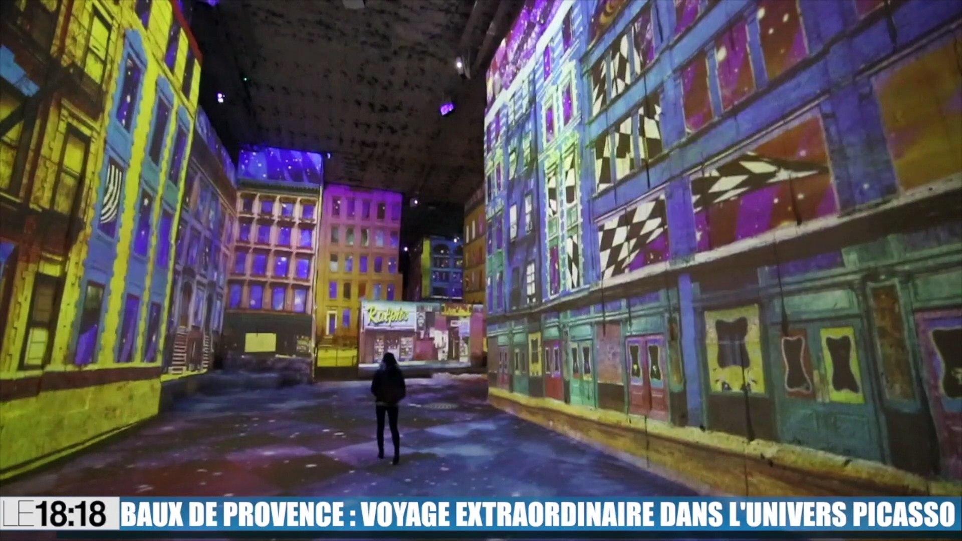 Le 18 18 Embarquez Pour Un Voyage Magique Dans L Univers Picasso Dans Les Carrieres De Lumieres Aux Baux De Provence Video Dailymotion