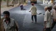 L'Inde construit ses routes à partir de déchets plastiques