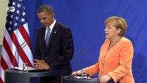 German Chancellor Angela Merkel - joint press conference with US President Barack Obama | Journal