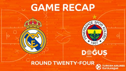 EuroLeague 2017-18 Highlights Regular Season Round 24 video: Madrid 83-86 Fenerbahce