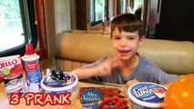 FOOD PRANK April Fools Day PRANK DAD Doritos & Candy Pie + FAKE BACON Funny Ideas April Fools Joke