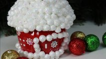 DIY Kids Crafts Ideas for Christmas: Plastic Bottles Winter House - Recycled Bottles Crafts