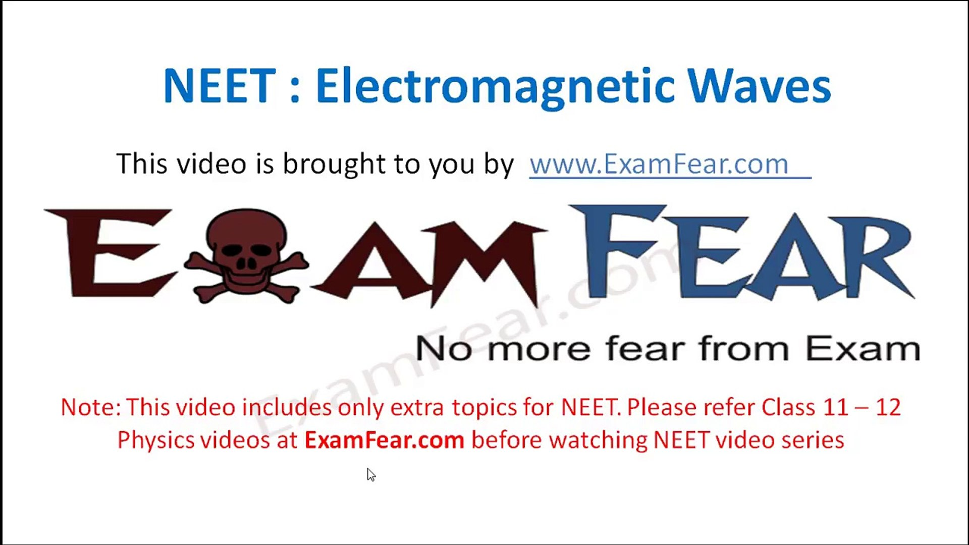 NEET Physics Electromagnetic Waves : Multiple Choice Previous Years  Questions MCQs 1