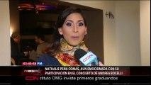 Nathalie Peña Comas, aun Emocionada con su participación en el concierto de Andrea Bocelli