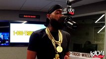 """Nipsey Hussle """"Slauson Style"""" Freestyle @ K-104 """"Hip Hop and R&B"""" with Bay Bay, 03-02-2018"""